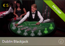 dublin blackjack exclusif